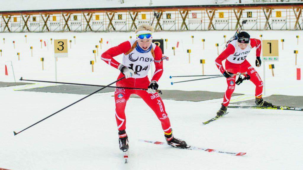 SATSER: Andreas Øyen Tøraasen, til venstre, satser på skiskyting og er en aktuell løper i Tronfjell Maskin-cupen.