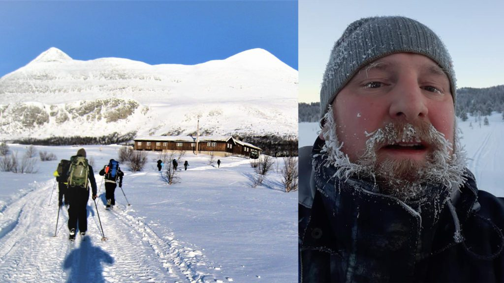 NYE STEG: Driver Håkon Magne Skjøren er godt i gang med forberedelsene til året på Breisjøseter Turisthytte. Vinterprogrammet er satt, og dato for sommerens festival er satt. Foto: privat